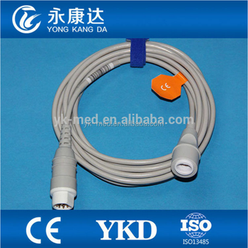 IBP adapter cable and pressure transducer for Edward transducer