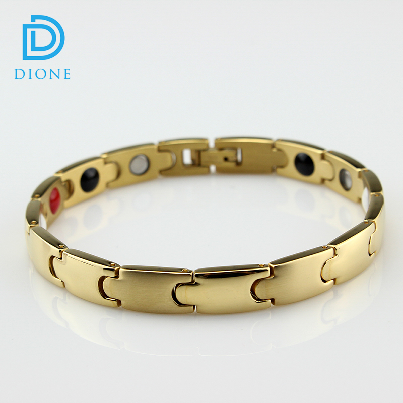 Wholesale cheap custom power band stainless steel blood pressure magnetic bracelet