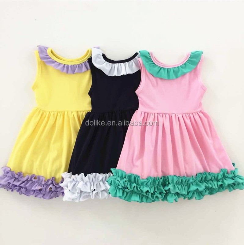 2016 Beautiful Icing Ruffle Party Fairy Dress Baby Girls Cotton ...