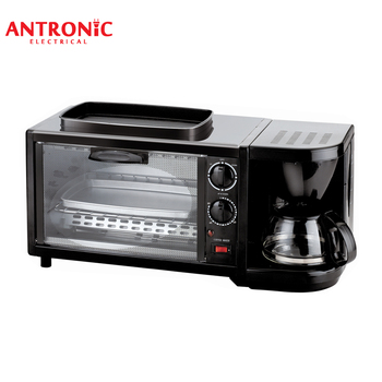 Atc Bm09 Antronic 9l 3 In 1 Breakfast Set Toaster Coffee Maker Kettle Portable