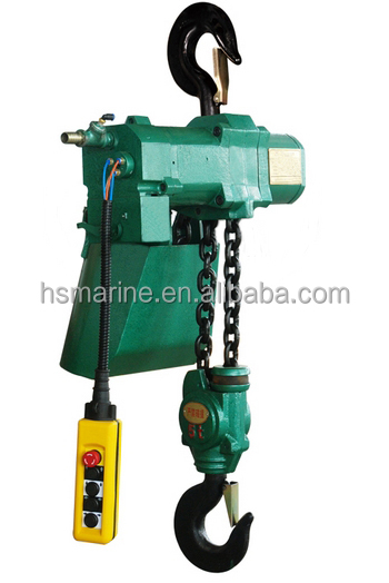 0.125T-20T Hook Suspended Pneumatic/ Air Chain Hoist