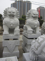 Chinese grey Granite lion big sculpture statue/Carvings from Xiamen
