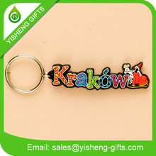 alphabet keyring letter keychains design key ring chain silicone 3d keychain