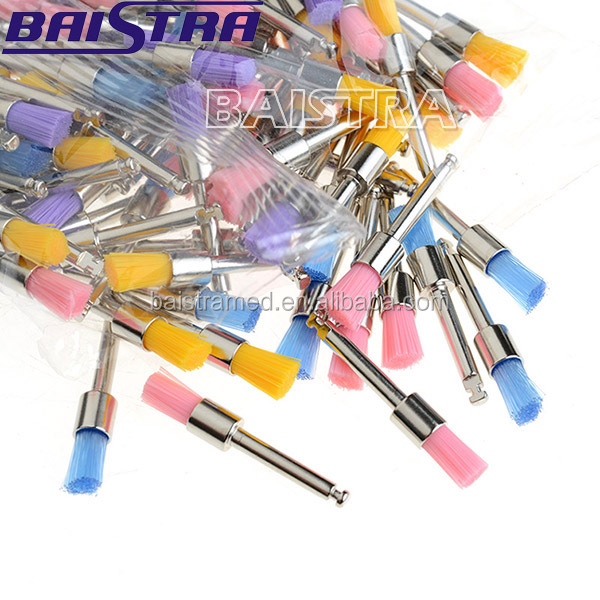Nylon Bowl Flat Type Dental Teeth Polishing Use Prophy Brushes