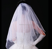 New White Wedding Bridal Veil 60* 80cm