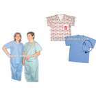 Disposable medical hospital tunic housekeeping scrub uniform for women