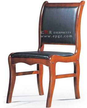 Leather Wooden Conference Office Chair Without Armrest Office ...