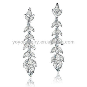 E1061 Noble new design jumka earring handmade crystal earring long fashion earrings