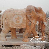 Garden decoration hand carved elephant stone sculpture