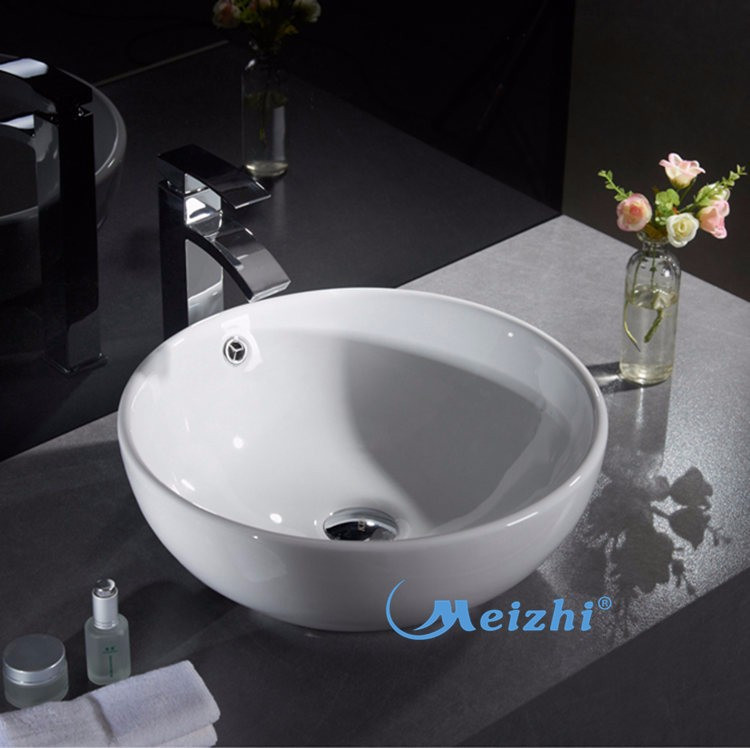 Modern design ceramic shampoo basin price in bathroom