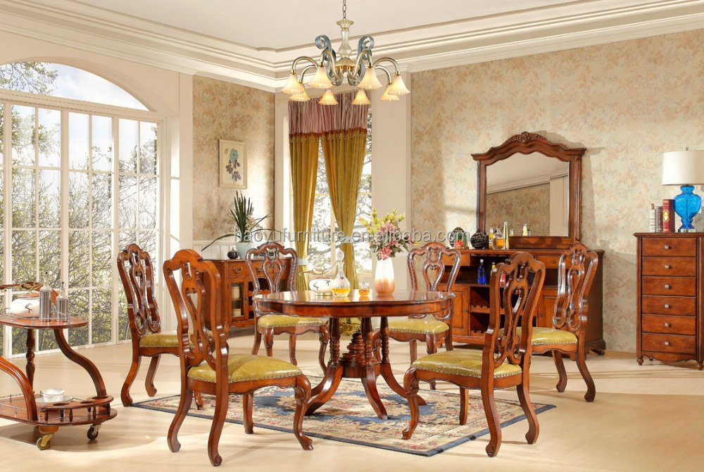 red wood dining table set HY825-1#