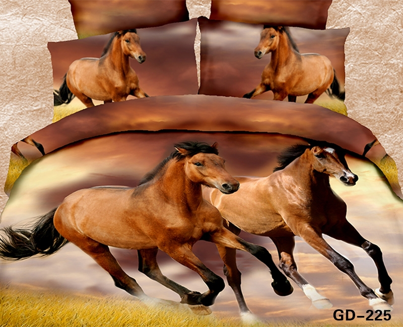 Magnificent Wild Horses Running Free 3d bed set