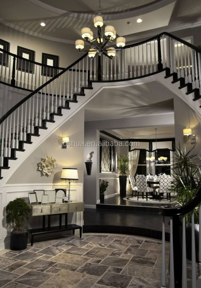 Incroyable Luxury Staircases Neoclassicism Home Staircases Whiteu0026 Black Color  Staircases   Buy Indoor Wooden Staircase,Fancy Staircase,U Type Staircases  Product ...