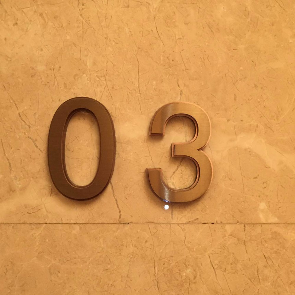 Decorating apartment door numbers pictures : Hight Quality Stainless Steel Apartment Door Number,Metal Letters ...