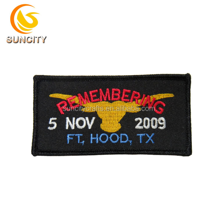 Free Sample Custom Logo Patch Letters Remembering Embroidery Patch With For Uniform