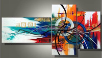 Top selling 3 Panels Group Canvas Oil Painting