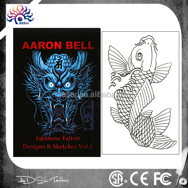 32 Pages A3 tattoo flash book, novelty stencil tattoo sketch book
