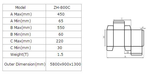ZHANTIAN zh-800C automatic small boxes Gluing Folding Machine