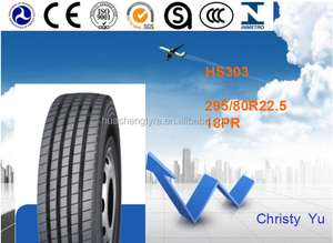 Best tyre tread 295/80R22.5 HS303 for steering wheel and trailer wheel with excellent braking and driving performances