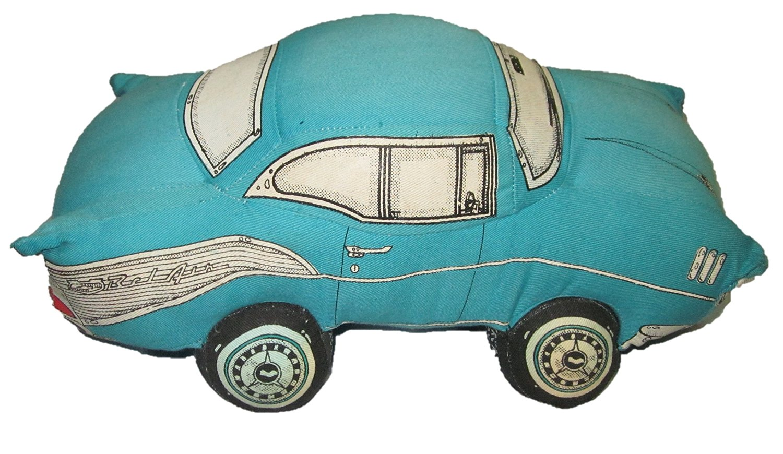 Cheap 1957 Chevy Belair Convertible Find 57 Top Wiring Blue Car Pillow Plush