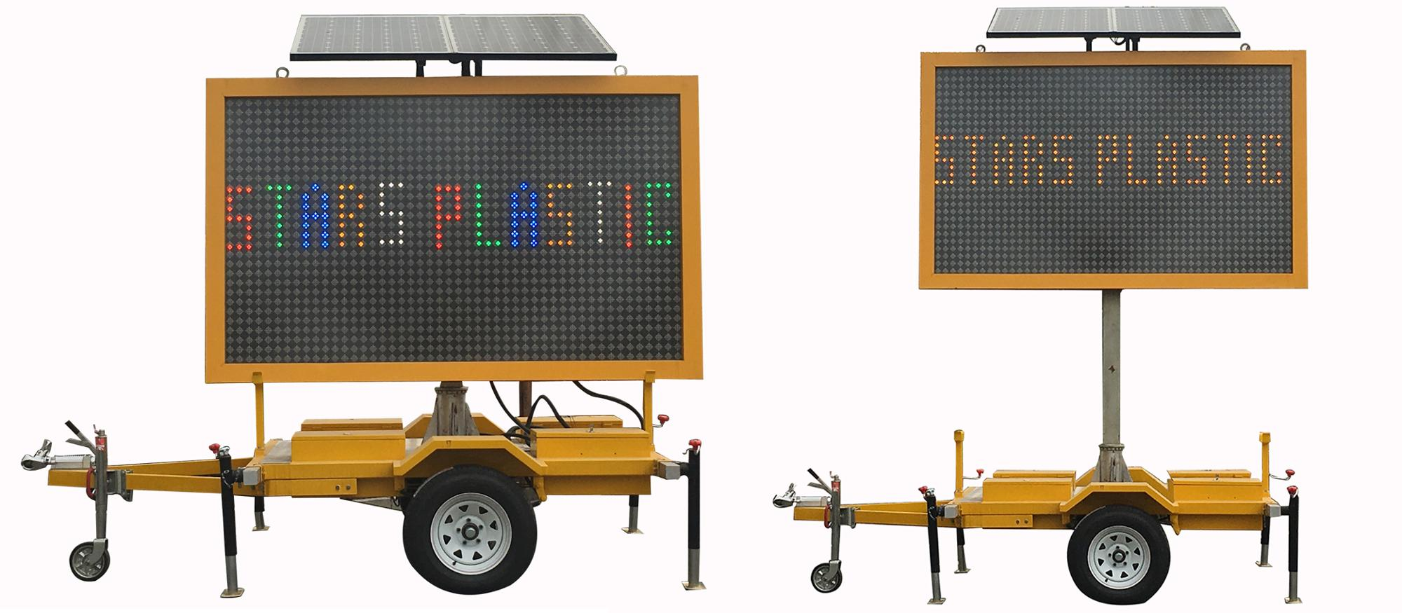 Solar Truck Mount Variable Message Sign For Traffic Management, Outdoor Variable Message Sign
