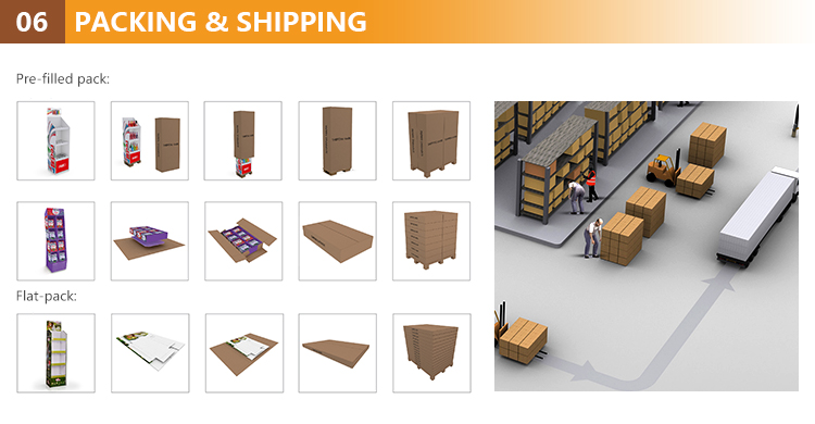 High quality cardboard pallet garment display rack