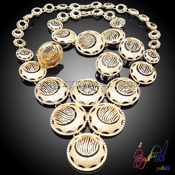 Designer Delicate Necklace Set Jewelry Stylish Fake Gold Jewelry Set