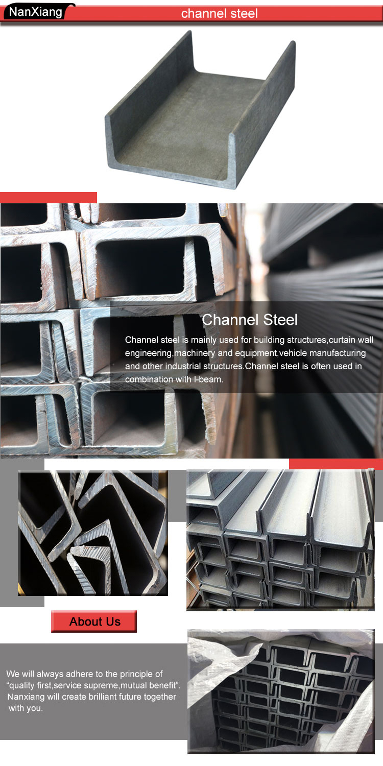 mild galvanised steel c channel standard sizes channel iron for sale