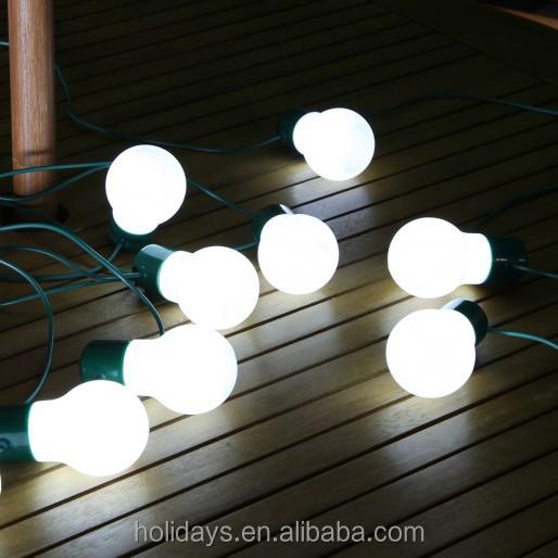 6m White Solar Party Festoon Led Light Bulb