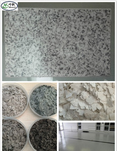 thickness 0.3mm 1-3mm color flakes Rock chips for Marble Grainte Paint Epoxy Floor Paint