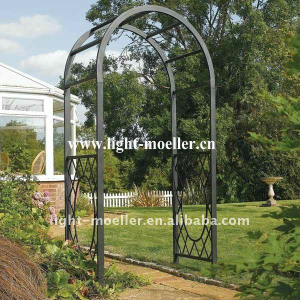 Arcos para jardin arcos de hierro con flores para adornos for Arcos para jardin