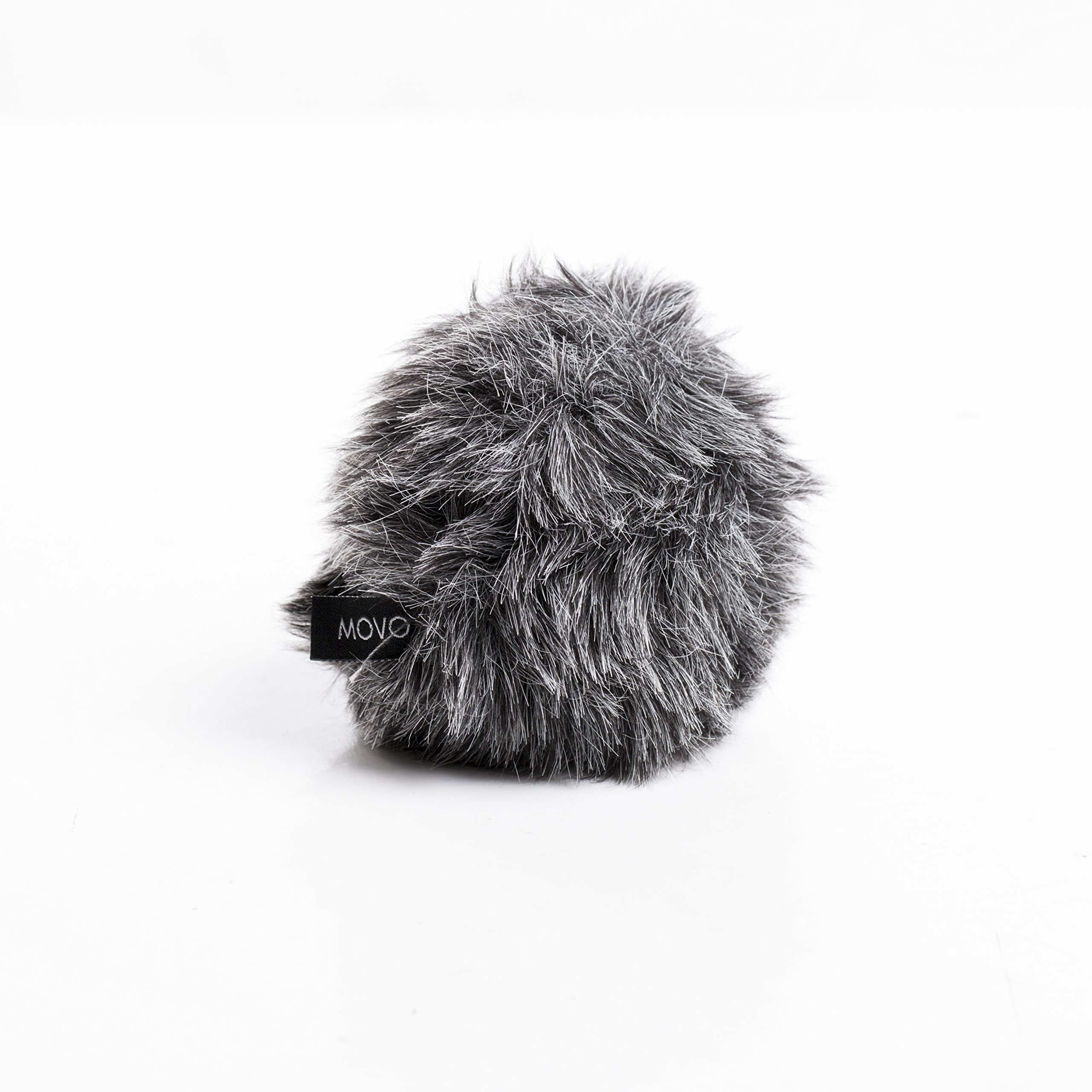 Movo WS-G5 Furry Outdoor Microphone Windscreen Muff Custom Fit for Rode VideoMicro and VideoMic Me (Dark Gray)