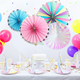 Wholesale Party Supplies Decorations Sets Hanging Paper Fans