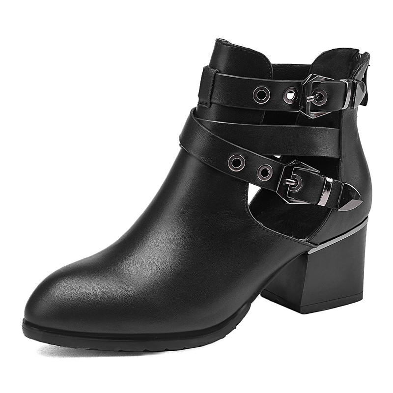2015 New Arrival Women Brand Boots Sexy Hollow Out Summer Style Womens Gladiator Ladies Ankle Boots Botas De Femininos D186_3