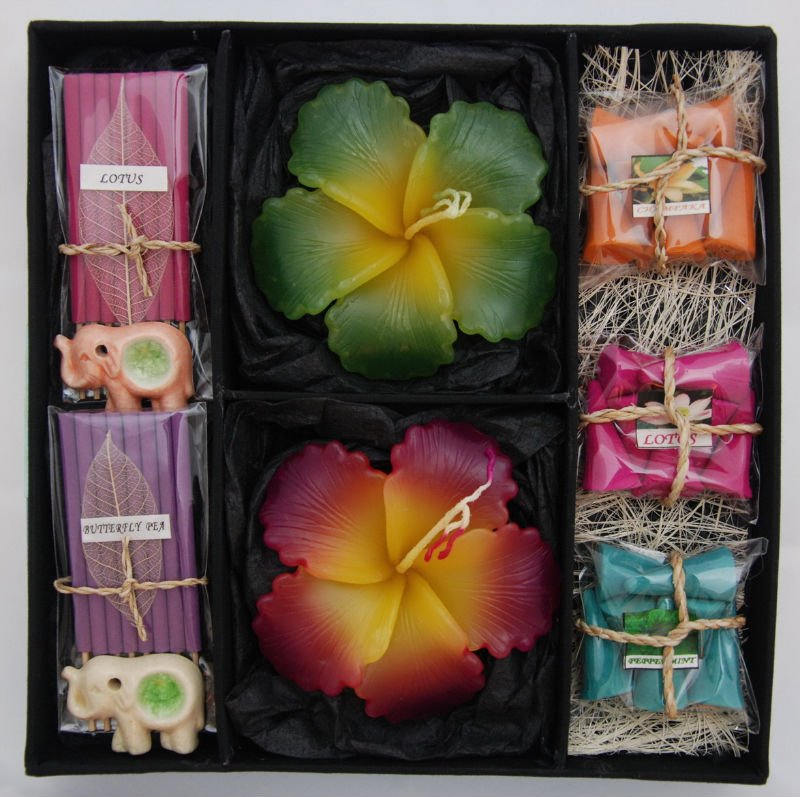 Aromatic Incense and Candle Gift set