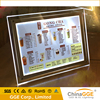 Acrylic material square shape innovative products table free standing acrylic led signs crystal light boxes for photo frames