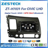 ZESTECH WinCE6.0+A8 CHIPSET 7 inch 2 din Car audio gps for honda civic gps multimedia system 2006-2011