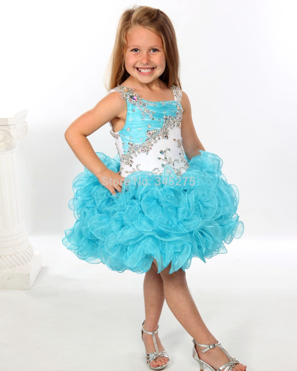 Buy 2014 New white and turquoise glitz beaded crystals ruffled tutu ...