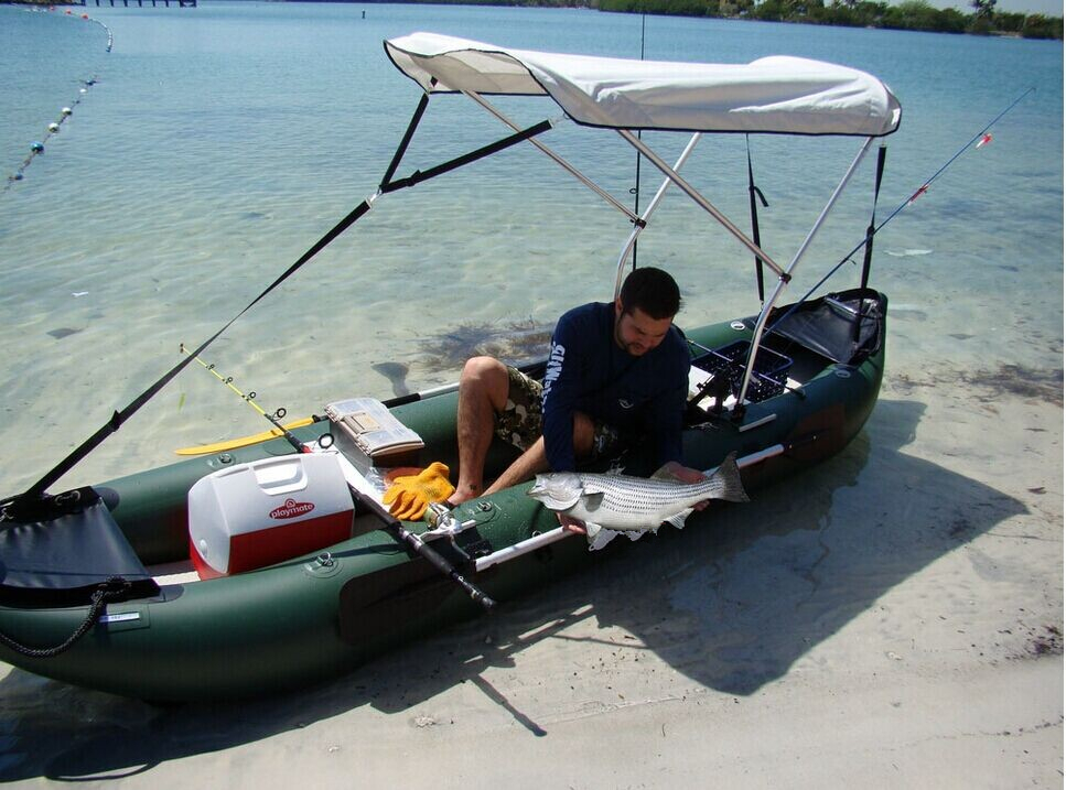 Similiar seaeagle pvc best inflatable fishing kayak in sea for Fishing kayak under 300