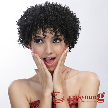 Synthetic Short Hair Afro Curly Wigs For Black Women