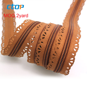 5# double sided nylon lace zippers for sale