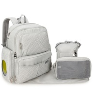Fashion Adult Baby Diaper Bag with Insulated Bottle Pockets