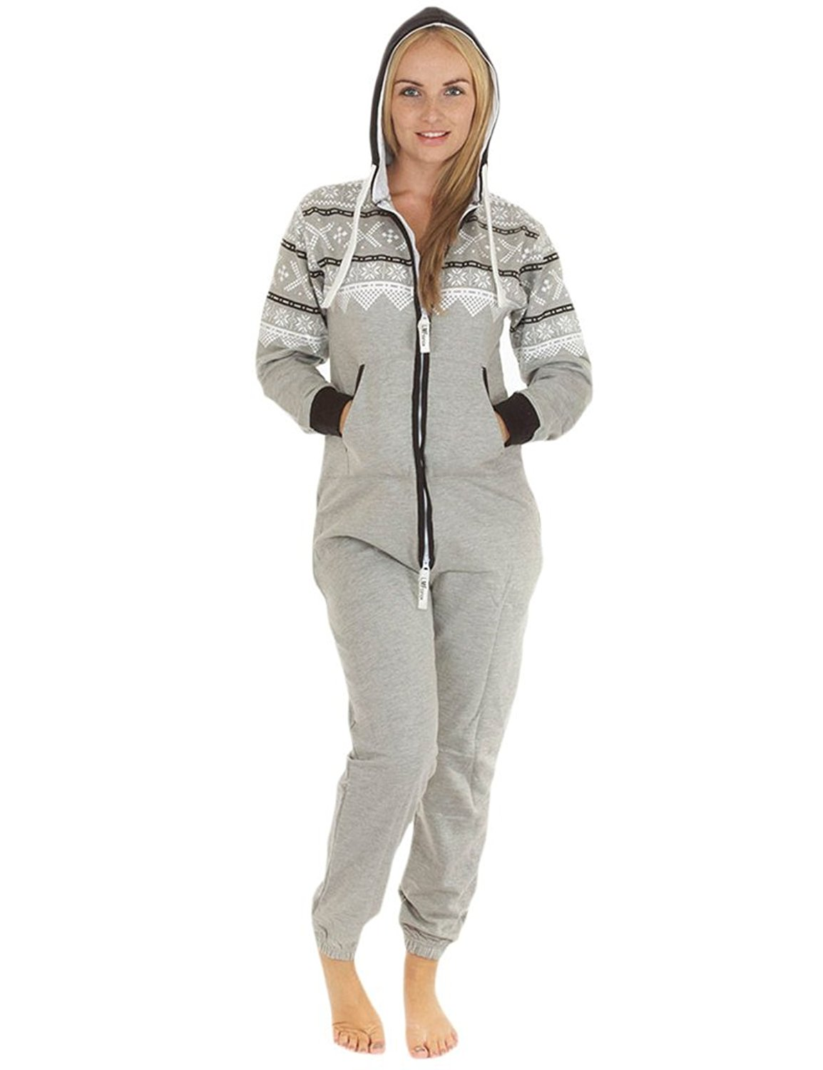 c7ebbd2cd36 Get Quotations · Love My Fashions Women s Teens Aztec Onesie Adult Jumpsuit  XXX-Large Grey