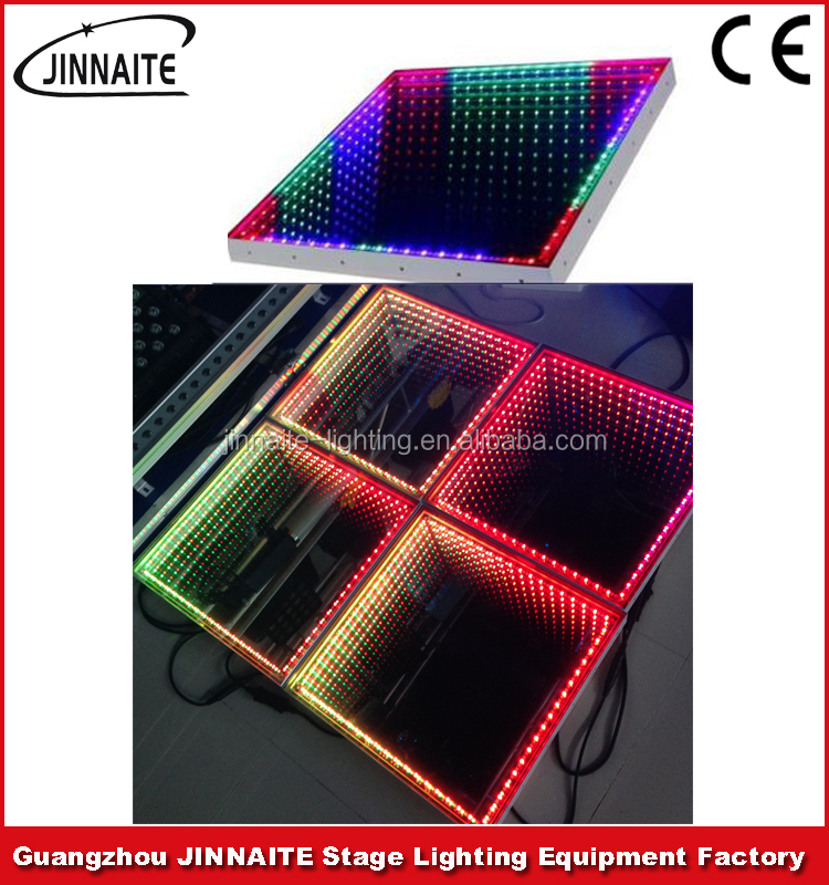 LED 3D Dance Floor Effect Mirror Light for Wedding Club Party Dancing