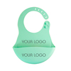 Amazon best selling manufacturer colorful logo custom silicone baby soft bib for baby