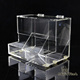 Top openable cover two pockets clear acrylic candy box chocolate box