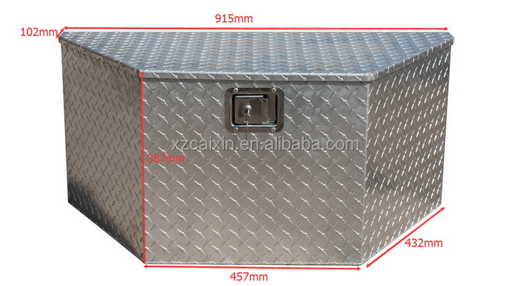 US general use high quality truck trailer metal aluminum tool box