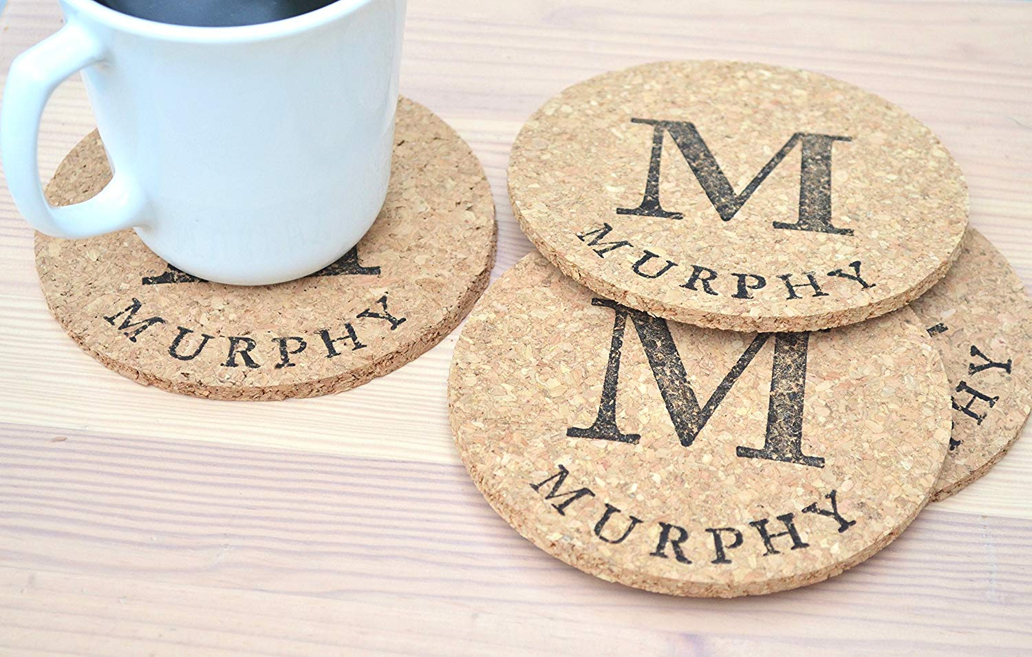 "4.5"" Personalized Round Coasters - Set of 8"