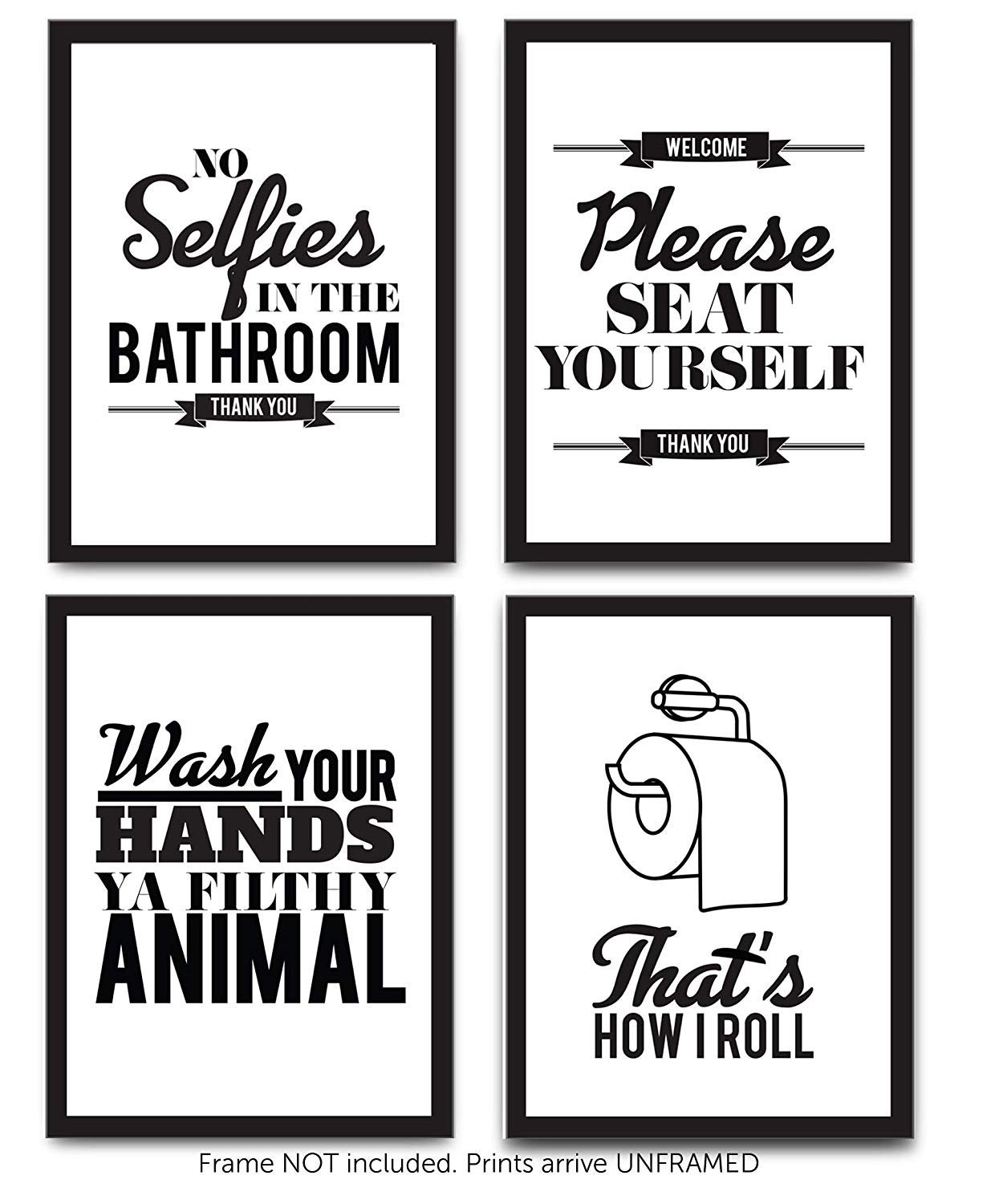 Buy Bathroom Rules Funny Sayings Primitive Sign Distressed ...