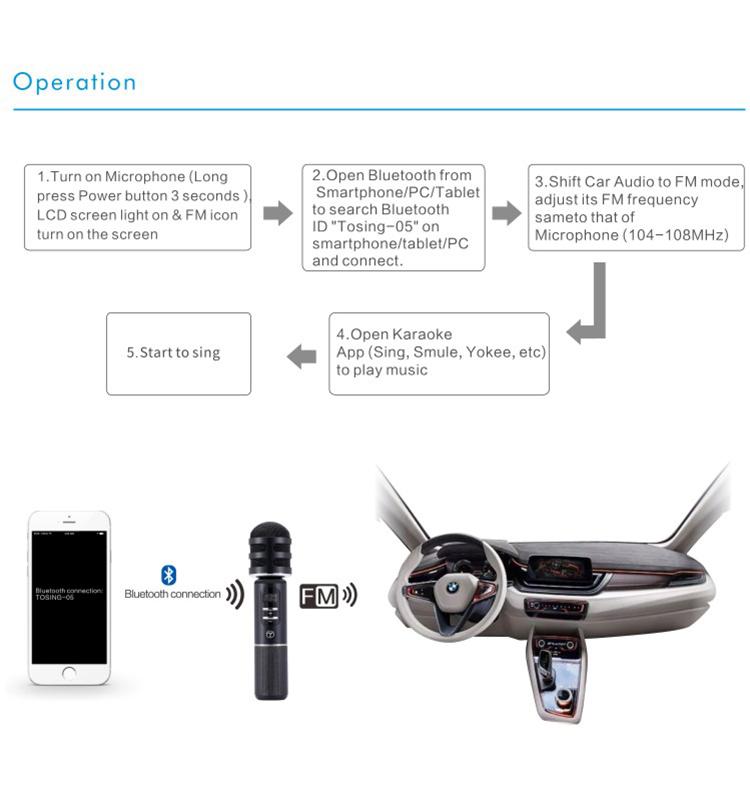 Best Car Wireless Microphone Car Karaoke Player Tosing05 Fm Car Karaoke  Microphone - Buy Wireless Microphone Karaoke,Microphone For Singing